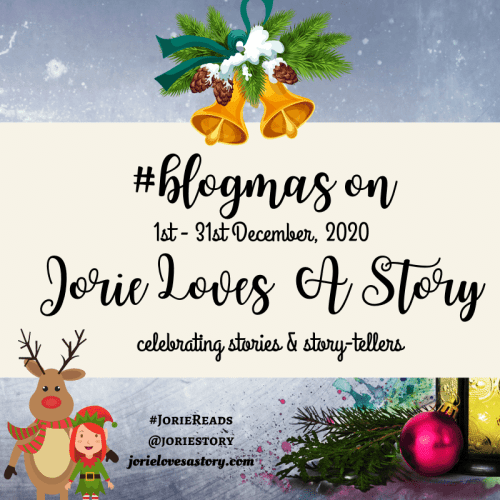 #blogmas badge created by Jorie in Canva.