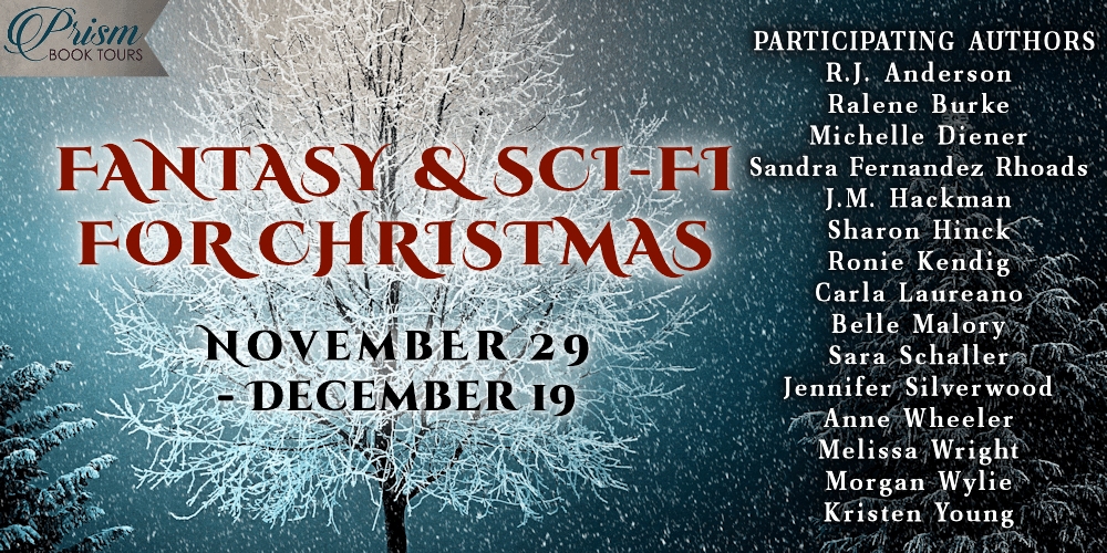 #FantasyForChristmas banner provided by Prism Book Tours and is used with permission.