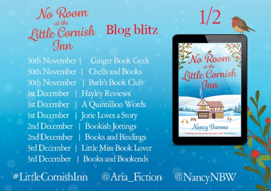 No Room at the Little Cornish Inn blog tour poster provided by Head of Zeus and is used with permission.