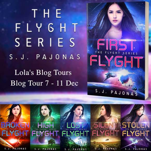 The Flyght series banner provided by Lola Blog Tours and is used with permission.
