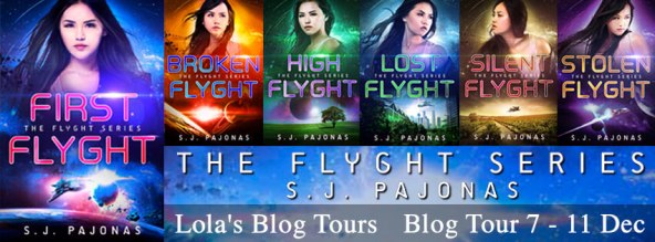 Flyght series blog tour banner provided by Lola Blog Tours and is used with permission.