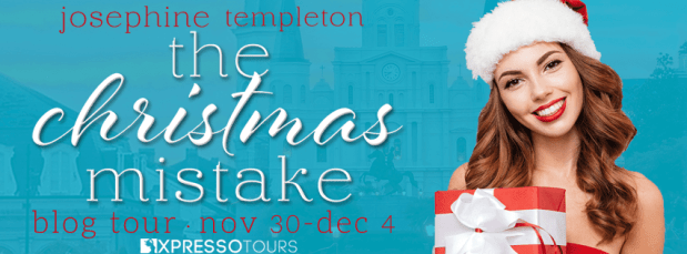 The Christmas Mistake blog tour banner is provided by Xpresso Book Tours and is used with permission.