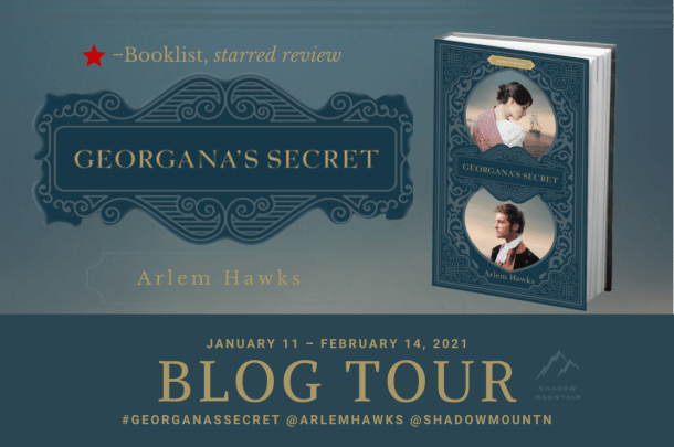 Georganas Secret Blog Tour banner provided by Austenprose and is used with permission.