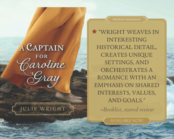 A Captain for Caroline Gray promo graphic provided by Austenprose and is used with permission.