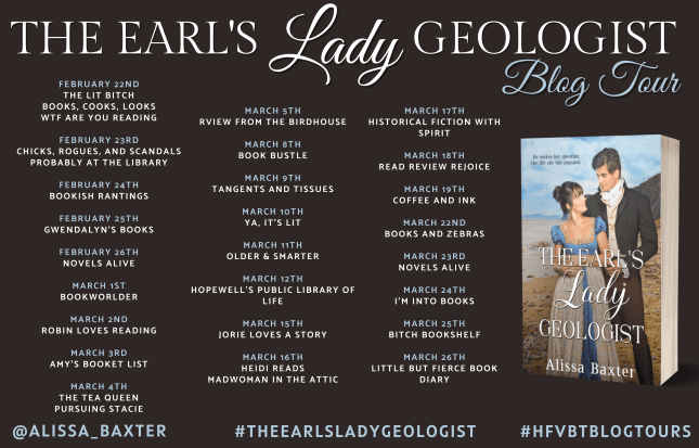 The Earl's Lady Geologist blog tour banner provided by HFVBTs and is used with permission.