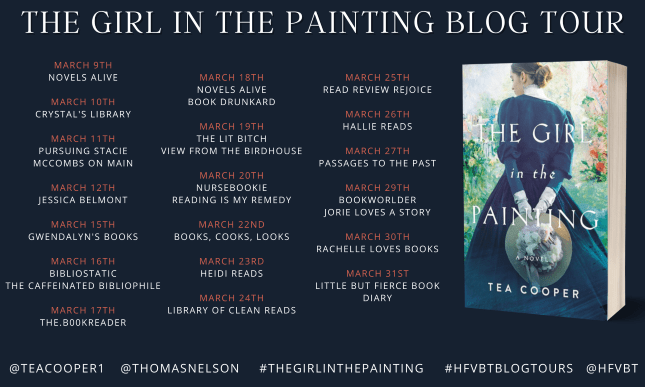The Girl in the Painting blog tour banner provided by HFVBTs and is used with permission.
