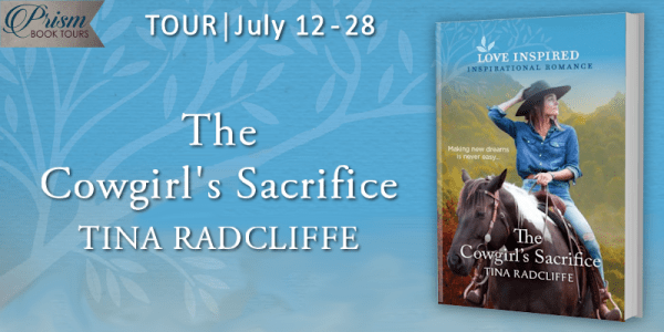 The Cowgirl's Sacrifice blog tour banner provided by Prism Book Tours and is used with permission.