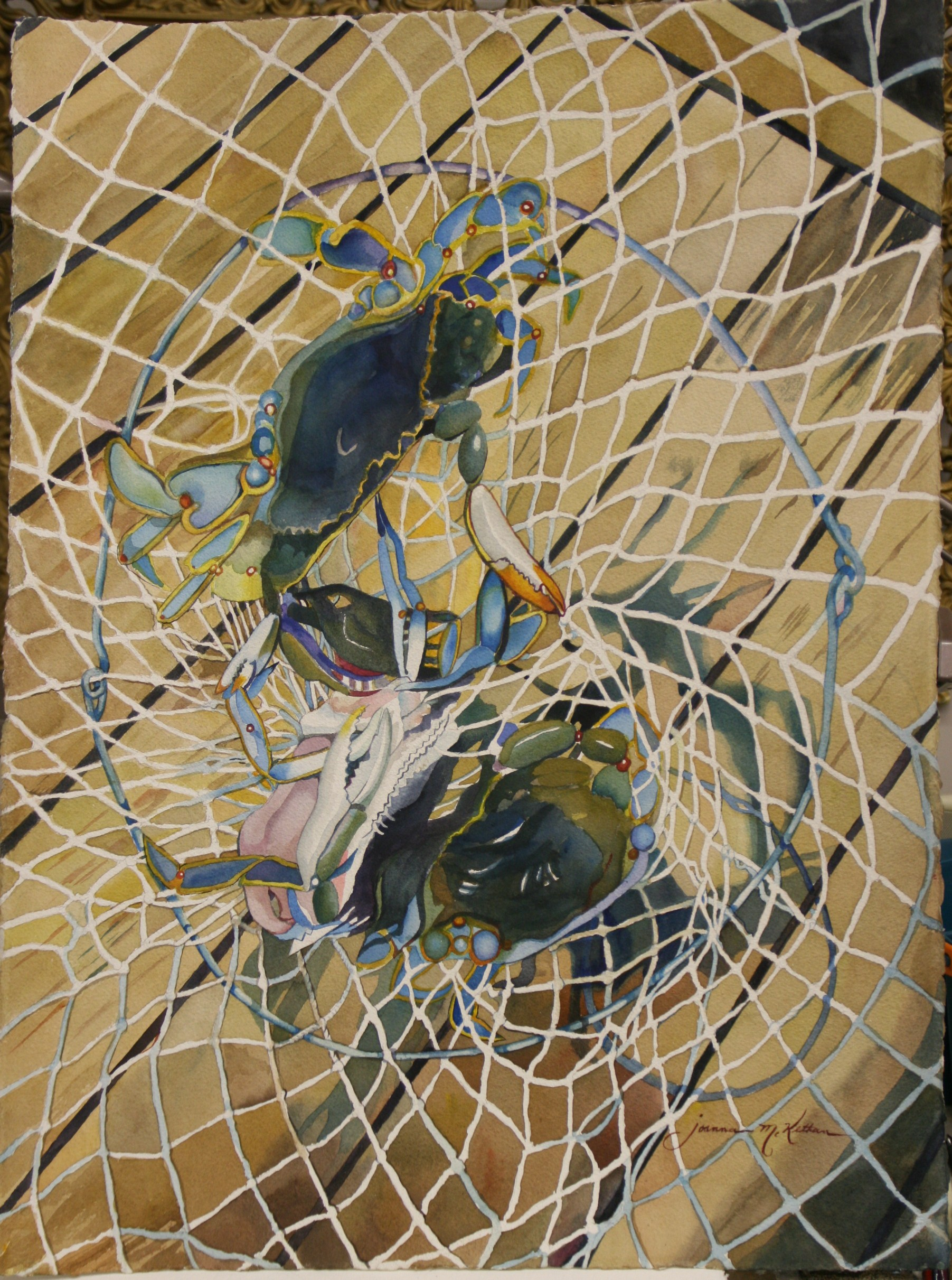 crab net watercolor nets 2nd major show