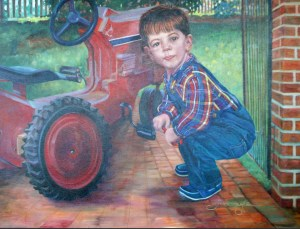 little-man-with-red-tractor
