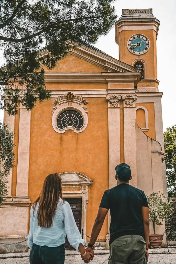 Eze, church, France