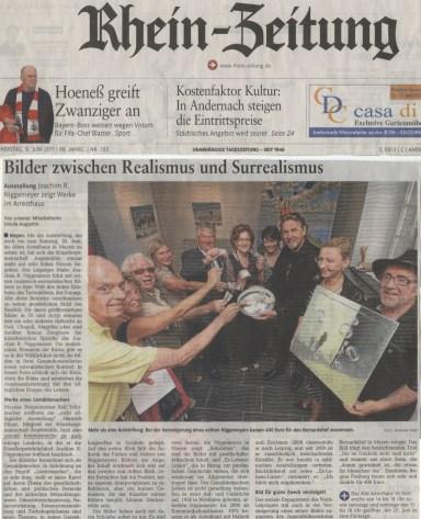 Artikel Rhein-Zeitung 09.06.2011 J. Niggemeyer
