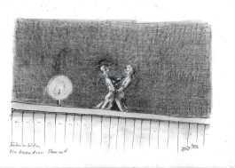 Bühnenbild (Bleistift)