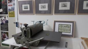 Radierpresse . GEKO 600, Drucktisch 60 x 90 cm