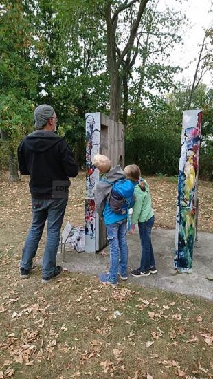 Installation im öffentlichen Raum: Denk Mal! für Integration und starke Nachbarschaften (Unterstützung durch Robert Ernst, Leipzig