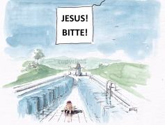 Jesus und so... Jesus übt...