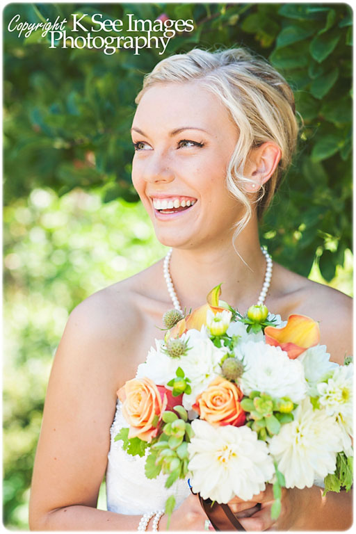 Autumn bridal bouquet featuring dahlias, succulents, roses, calla lilies, and pods. | Jessica Ormond Events | K See Images Photography