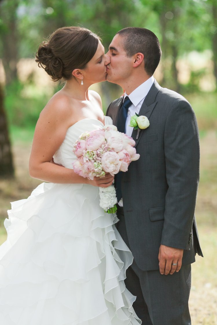 classic pink and navy outdoor wedding - hydrangeas and garden roses - Jessica Ormond Events - Grace and Jaden Photography. Lubbock Texas boutique wedding florist.