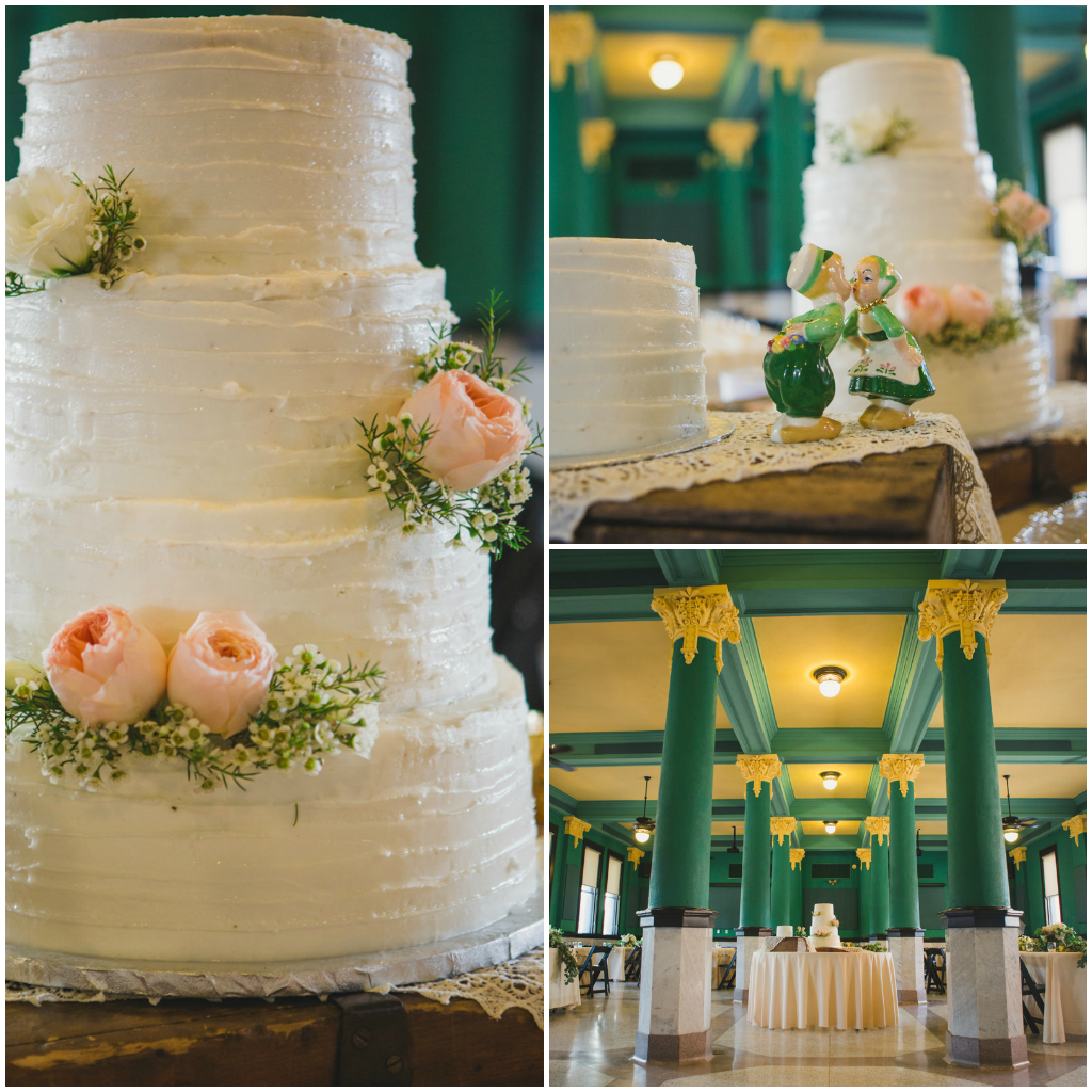 Elegant cake with garden roses. Jessica Ormond Events - Abilene and Lubbock Texas boutique wedding florist and planner. Mia Coelho Photography.