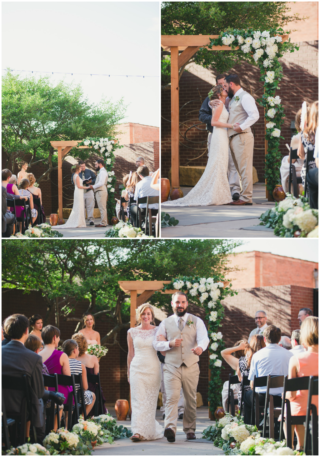The Grace Museum, timeless and handcrafted wedding ceremony. Jessica Ormond Events - Abilene and Lubbock Texas boutique wedding florist and planner. Mia Coelho Photography.