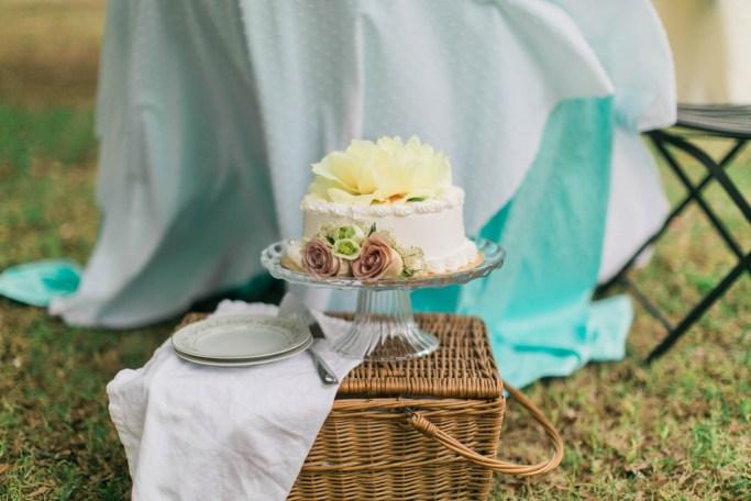 Wedding cake with yellow peony. Styling Jessica Ormond Events. Photography Emily Koontz.
