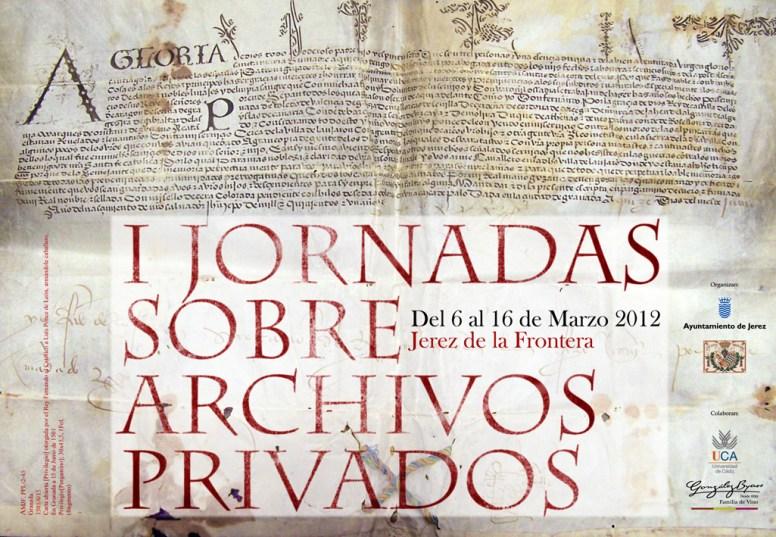 Cartel I Jornadas de Archivos Privados