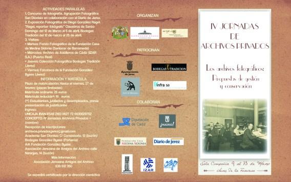 Folleto IV Jornadas Archivos Privados