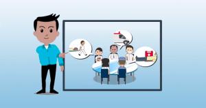 Infográfico animado explica a Educação Permanente em Saúde