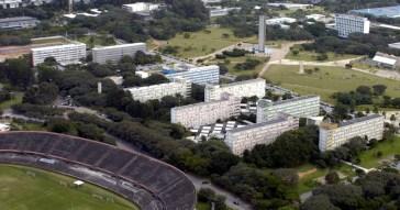Vista aérea do conjunto residencial (Crusp) - Foto: Jorge Maruta / USP Imagens