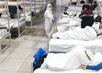 Hospital improvisado em Wuhan, província de Hubei, na China, para atendimento dos pacientes infectados pelo coronavírus - Foto: Governo da China via Fotos Públicas