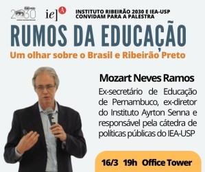 Palestra discute cenário da educação nos contextos nacional e local