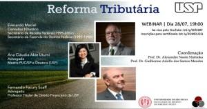 Reforma tributária é tema de webinar da Faculdade de Direito