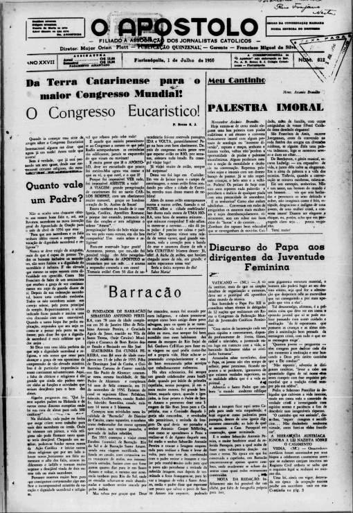O Apostolo, Florianópolis, 1 de Julho de 1956