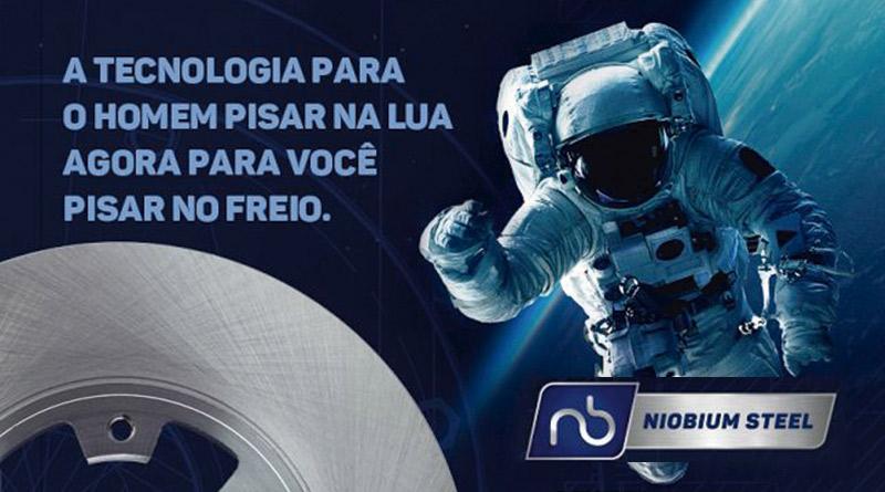 Niobium Steel , Hipper Freios, tecnologia exclusiva em freios composição de Nióbio em peça autopeças, brasil peças