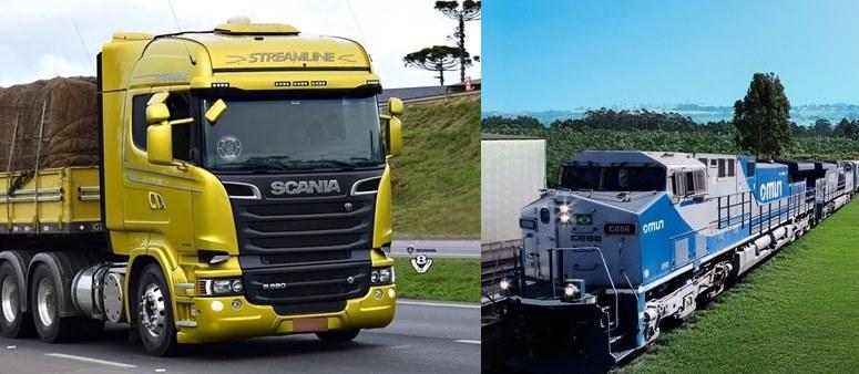 Trens não diminuem número de caminhões, podendo até aumentar