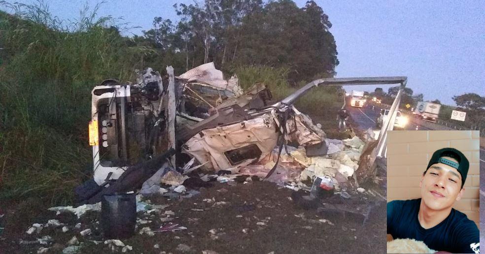 Caminhoneiro de 28 anos morre após tombar caminhão na SP-333