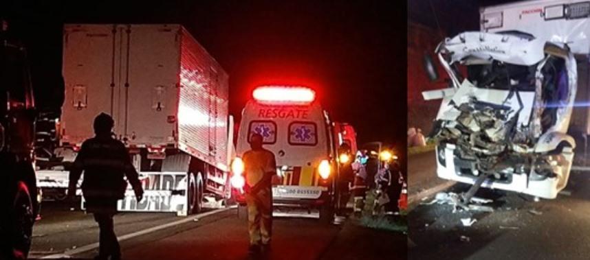 Caminhoneiro de 37 anos morre após colidir na traseira de outro caminhão em Limeira/SP