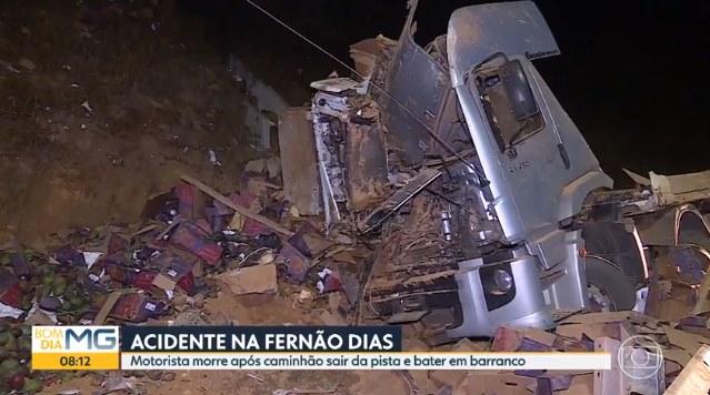 Caminhoneiro que transportava frutas morre após colidir em barranco na BR-381 2