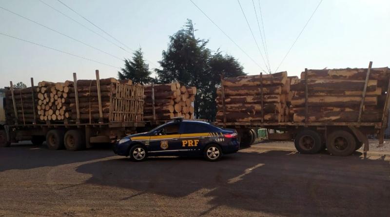 PRF flagra 20 toneladas de excesso de peso em dois caminhões na BR 282 - jornal do caminhoneiro