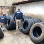 PRF desarticula distribuidora de pneus contrabandeados em Ourinhos