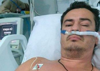Cristiano internado na UTI do Hospital Nereu Ramos | Foto: Arquivo Pessoal