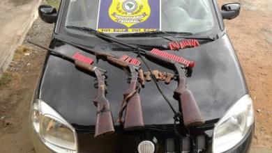 Photo of Chapada: PRF flagra três pessoas com armas de caça em Itaberaba