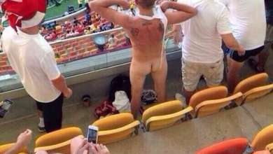 Photo of Copa 2014: Foto de torcedor nu em estádio de Manaus circula pela web
