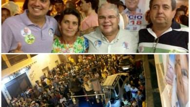 Photo of Adustina: Pedro Tavares e Lúcio Vieira Lima são recepcionados por milhares de pessoas