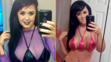 """Photo of Mulher implanta terceiro peito para """"espantar homens"""""""