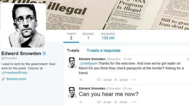 Photo of Edward Snowden abre conta no Twitter e segue apenas a NSA