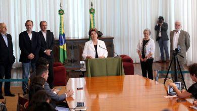 Photo of Dilma propõe plebiscito sobre eleição presidencial durante entrevista coletiva