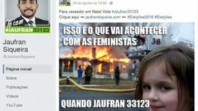 Photo of Brasil: Candidato de Natal incita violência contra mulheres caso seja eleito para a Câmara