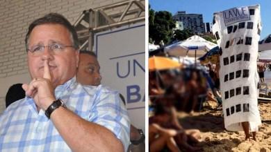 Photo of #Bahia: Empreendimento que derrubou o ex-ministro Geddel vira piada nas areias de Salvador