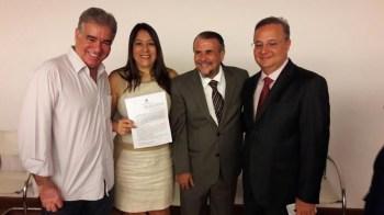 O deputado Zé Neto, a prefeita Guilma Soares, o líder político Ivan Soares e o secretário Fábio Villas-Boas | FOTO: Divulgação |