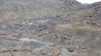 Área queimada em Rio de Contas - FOTO Divulgação - Secretaria de Rio de Contas
